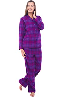 Alexander Del Rossa Womens Plaid Flannel Pajamas, Long Cotton Pj Set