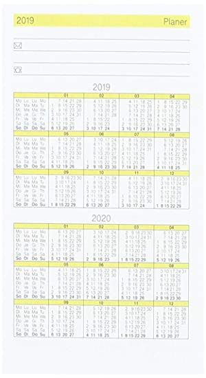 rido/idé 7045030 GILET-Planer - Recambio de agenda de ...