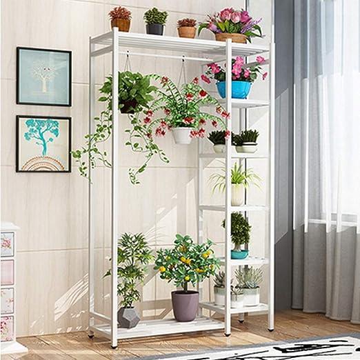 YUANYI Soporte De Flores Estante Estantería Escalera Estantería Decorativas De Plantas Flores para Decoración Exterior Interior Jardín Expositor Madera, White(B): Amazon.es: Jardín
