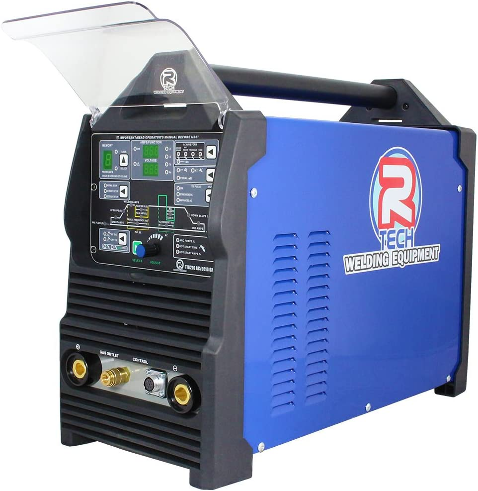 Tig Welder 210A AC//DC Inversor digital R-Tech Tig210EXT 240 V