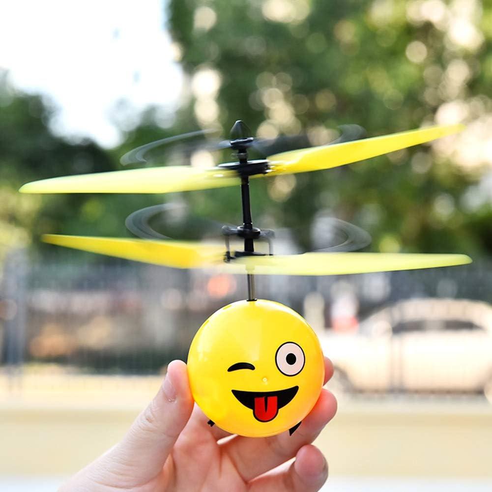 SJZX Flying Juguetes Bola Voladora Mini Drone Funny Expression Pack Airplane Infrarrojos InduccióN Regalos Aviones NiñOs NiñAs Juguetes,Naughty: Amazon.es: Deportes y aire libre