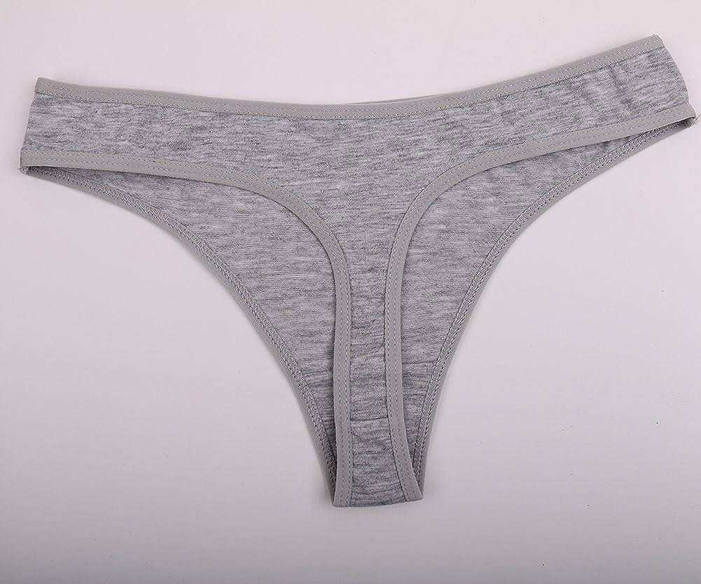 YOYI FASHION Women Cotton Thongs Fashion Intimates Briefs Tangas Ladies Panties Multi Packs