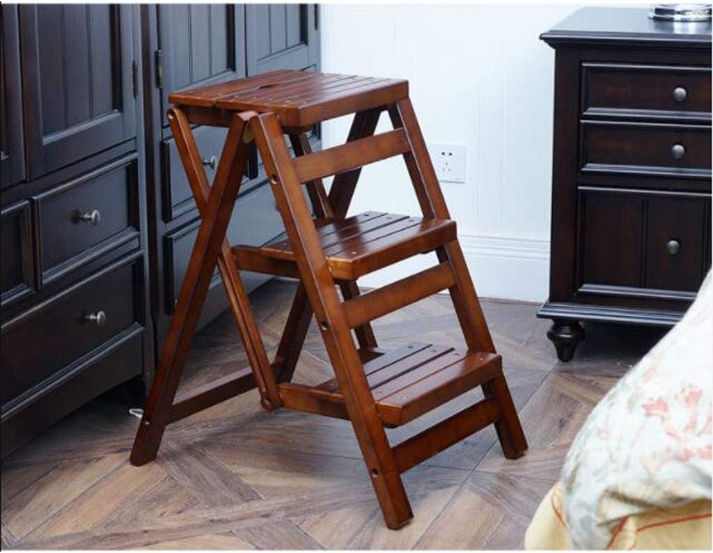 SMBYLL Taburete de Escalera Escalera de Madera Maciza Escalera Plegable Taburete multifunción Escalera de casa Cocina pequeña Taburete Escalera Creativa Escalera Taburete Escalera (Color : Brown): Amazon.es: Hogar