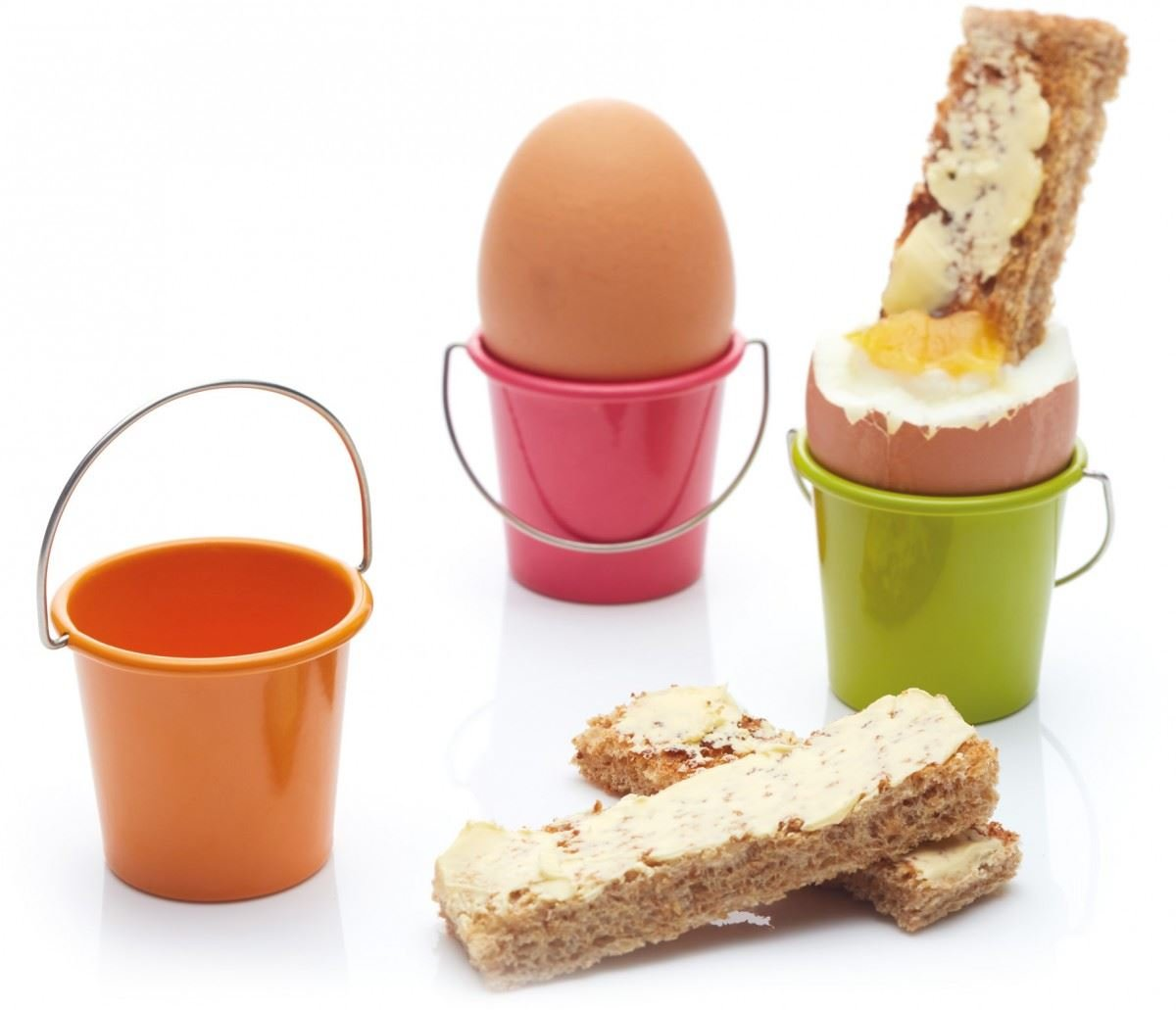 Colourworks Miniature Egg Buckets Egg Cup Set of 6 Multi-Coloured