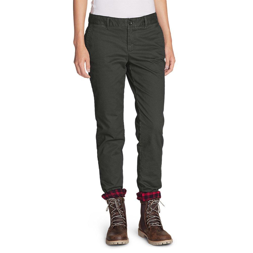 Eddie Bauer Women's Stretch Legend Wash Flannel-Lined Pants - Boyfriend 21107065