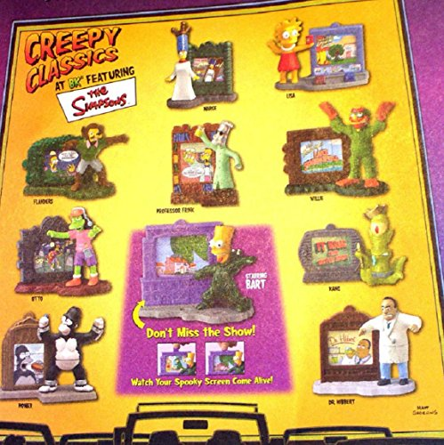 Set of 10 Burger King 2002 the Simpsons Creepy Classics -