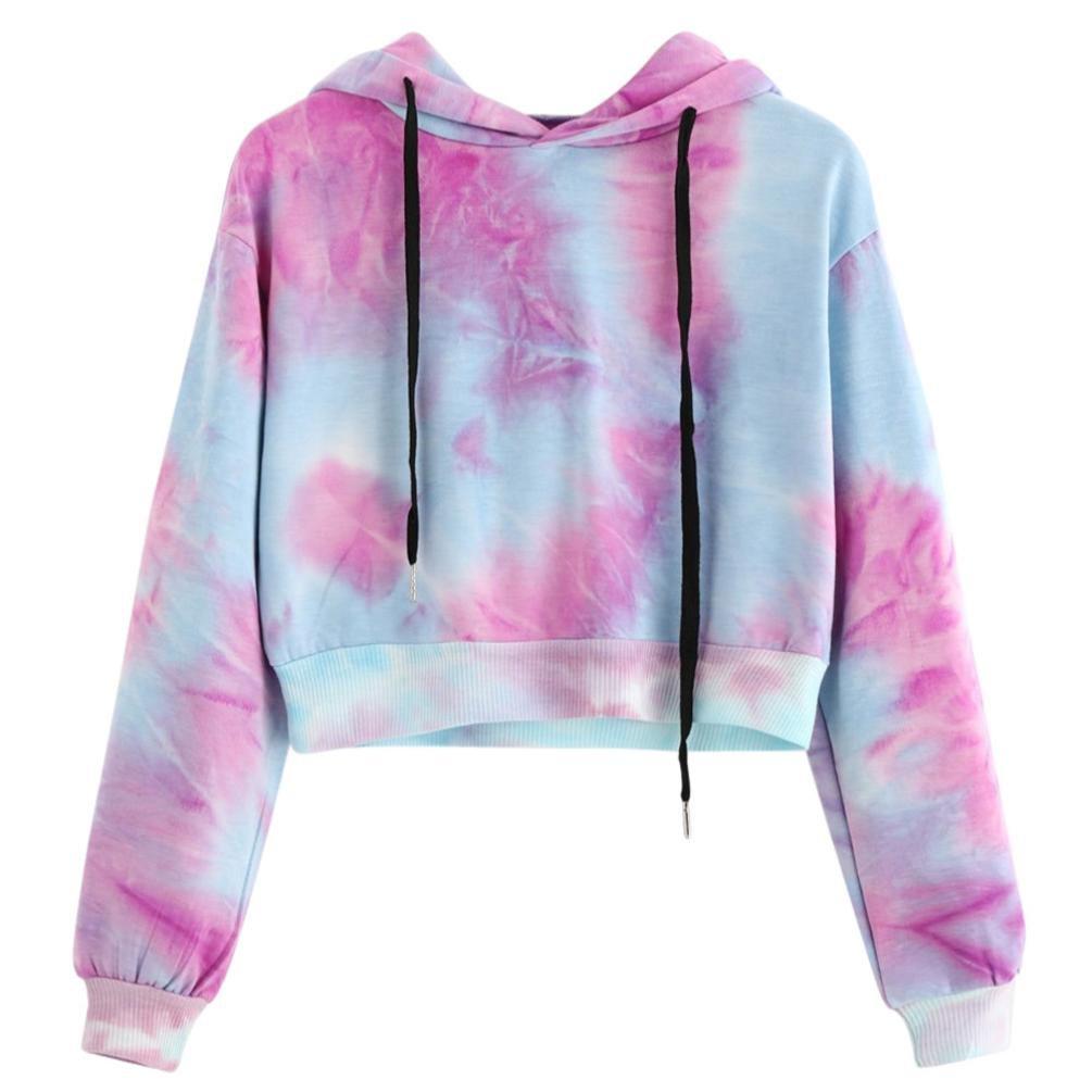 Amlaiworld Sweatshirts Herbst Frauen bunt Kapuzenpulli Damen warm  Sweatshirt Sport Bluse Mode Pullover kurz bauchfrei Tops  Amazon.de   Bekleidung 1b3450ded8