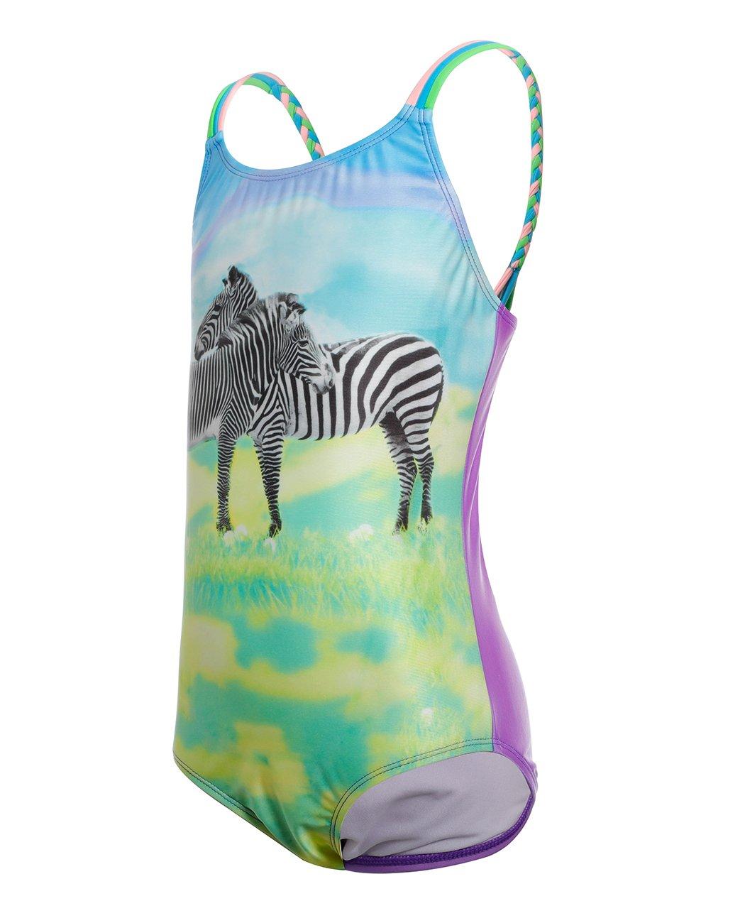 iDrawl Cute Zebra One Piece Beach Sport Swimsuit for Girls by iDrawl (Image #3)