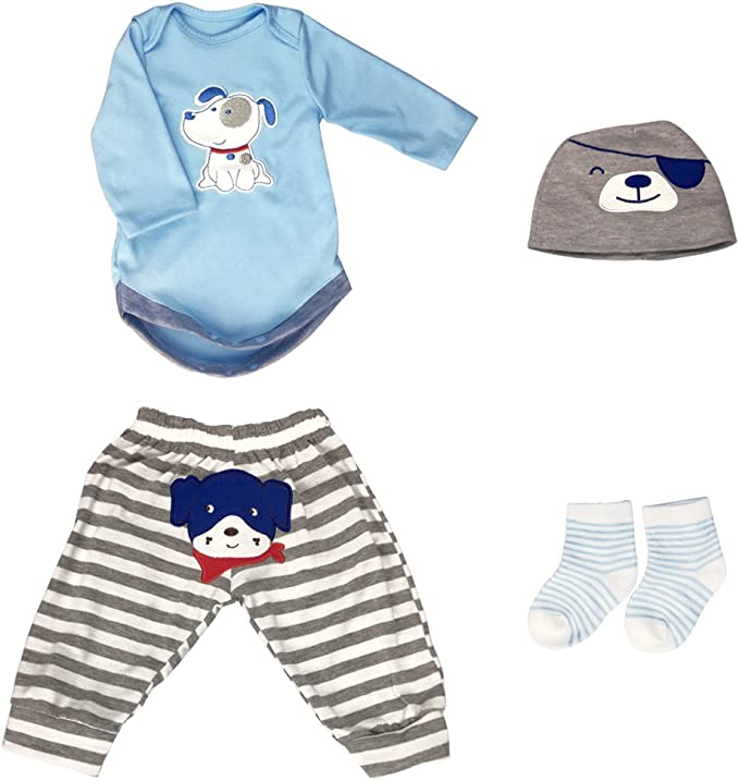 """Cute Animal Outfit Reborn Dolls Accessories 7PCS for 18-22/"""" Newborn Baby Clothes"""