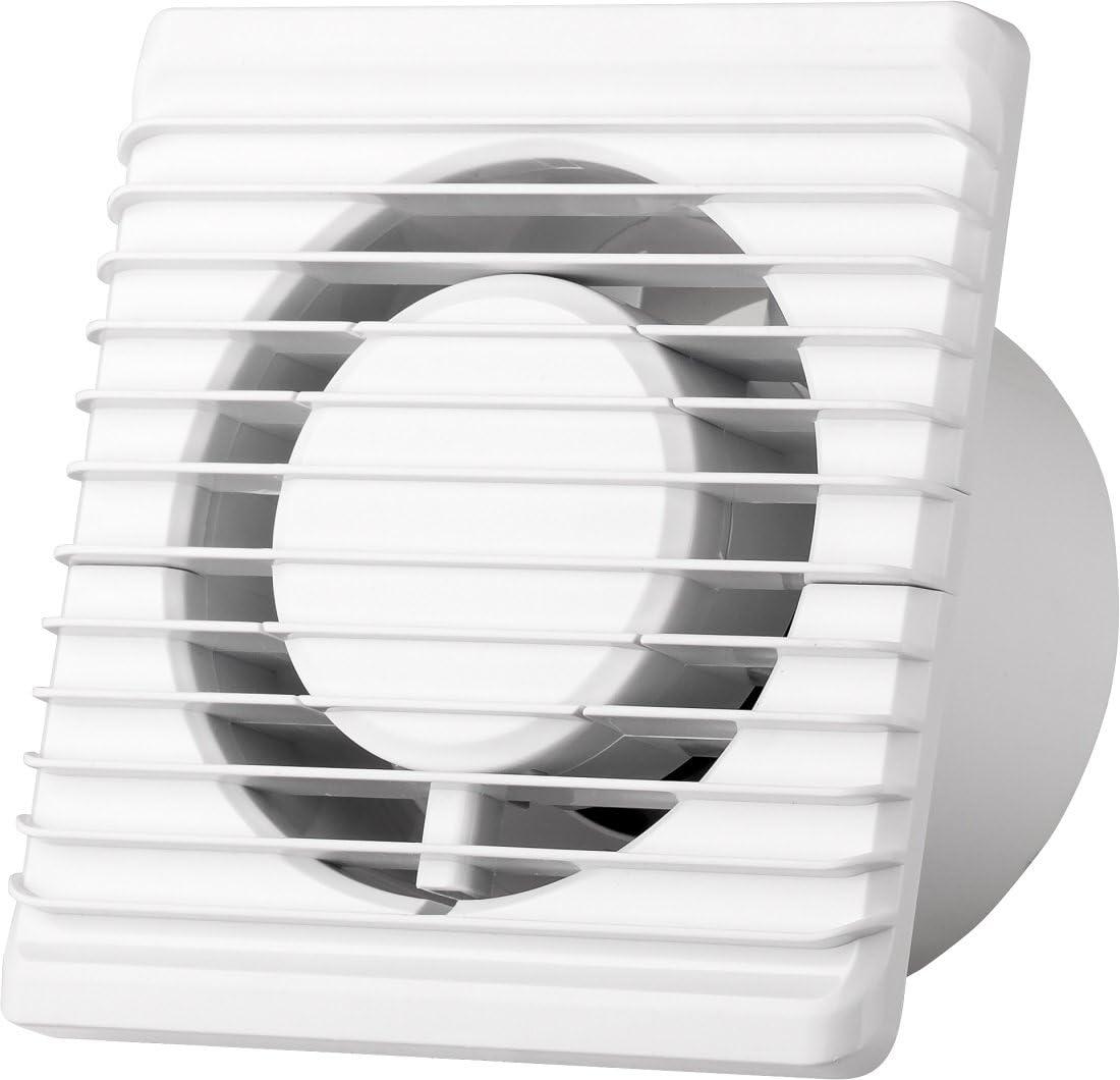 La energía baja cocina baño silenciosa campana extractora 100 mm con extracción de ventilación de cordón