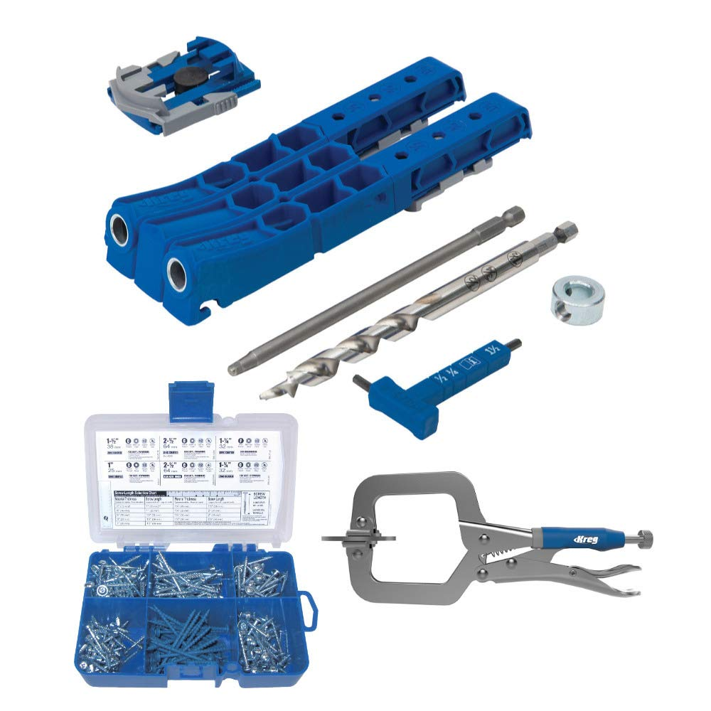 Kreg Pocket-Hole Jig 320 with Screw Kit and Clamp (3 Items) by KREG