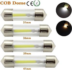 DE3022 DE3175 LED Bulb, DE3021 3175 6428 31mm LED Festoon Dome Bulbs for LED Car Interior Reading Map Trucks Light 12V (31MM, White) 4PCS