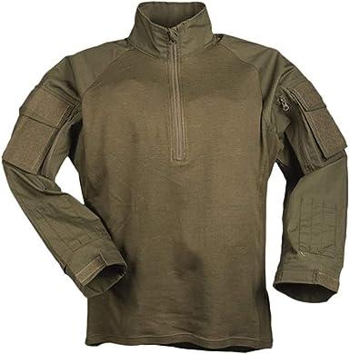 Mil-Tec Combat ISO11612 - Camiseta de manga corta, color verde oliva: Amazon.es: Deportes y aire libre