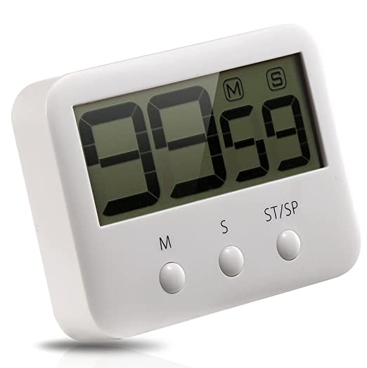 Metene Digital Kitchen Timer with Large LCD Display and Loud Alarm System by Metene: Amazon.es: Hogar