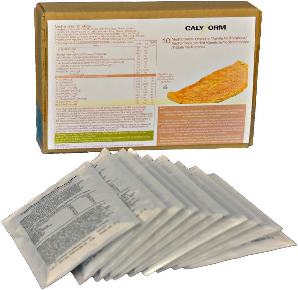 CALYFORM Tortita Proteica para dieta sabor Tortilla Mediterránea saciante   Proteína en Polvo para dieta proteica de calidad y aporte en aminoácidos ...