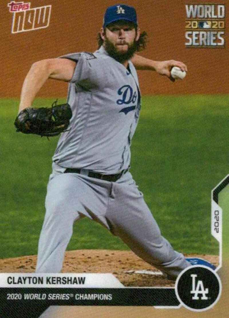 2020 Topps Now Dodgers World Series Champions #WS-10 Clayton Kershaw Los Angeles Dodgers MLB Baseball Trading Card