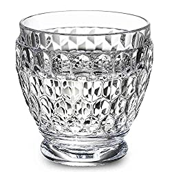 Clear Boston Blue Crystal Shot Glass, Set of 4