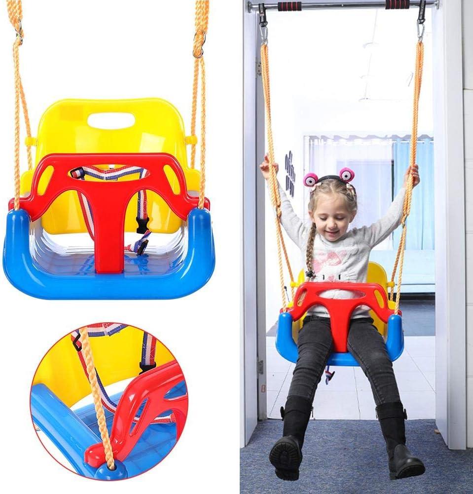 SinceY Asiento Columpio, 3 en 1 Columpios Infantiles para Bebés Niños con Silla Convertible en Asiento de Seguridad, Carga Máx 120kg, Gran Regalo para Bebés Y Niños Pequeños