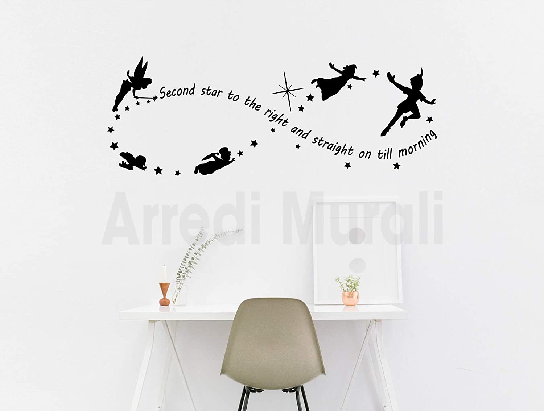 Adesivi Da Parete Con Frase E Disegno Peter Pan Adesivi Murali