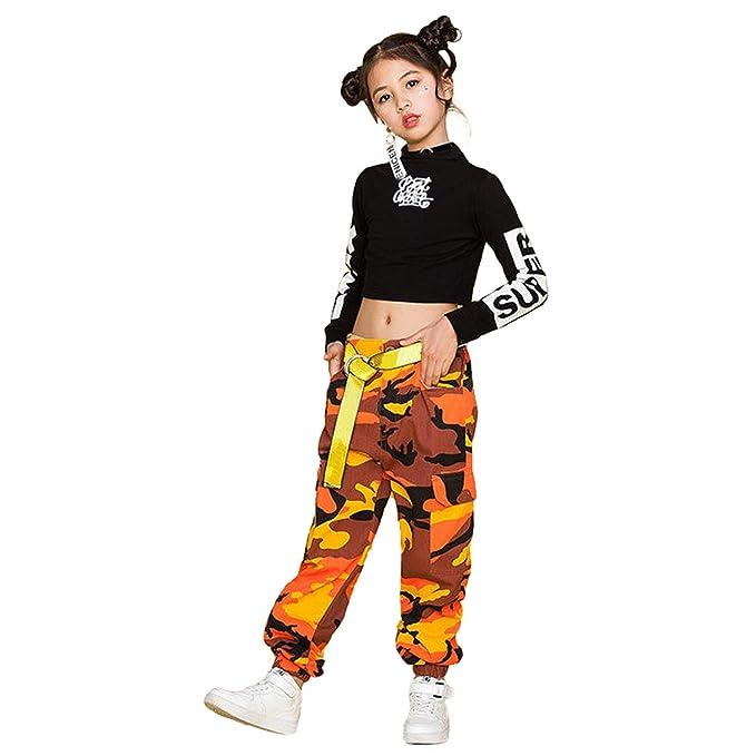Niñas Traje de Baile de Jazz Hip Hop Traje de Baile para la ...