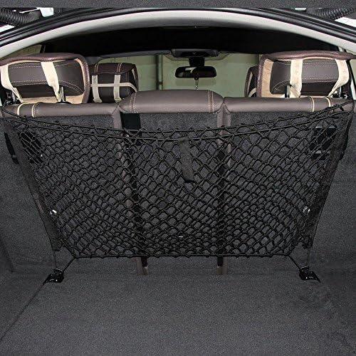 Triclicks 110 X 50cm Auto Netz Gepäcknetz Kofferraumnetz Kofferraum Organizer Hintere Lagerung Mit 4 Haken Für Suv Rv Schrägheck Kompatibel Auto