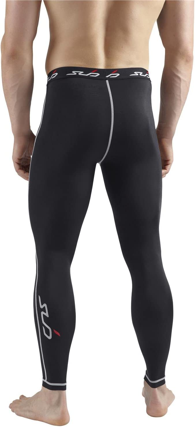 Mens Black Compression  THERMAL Long Pants Tight Fitness Rugby Running Take 5