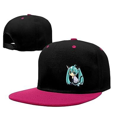 150a8098ba5 Amazon.com  Cool Hatsune Miku Adjustable Baseball Hats Pink  Clothing
