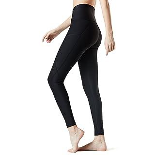 TM-FYP54-BLK_X-Large Tesla Yoga Pants High-Waist Leggings w Side Pockets FYP54