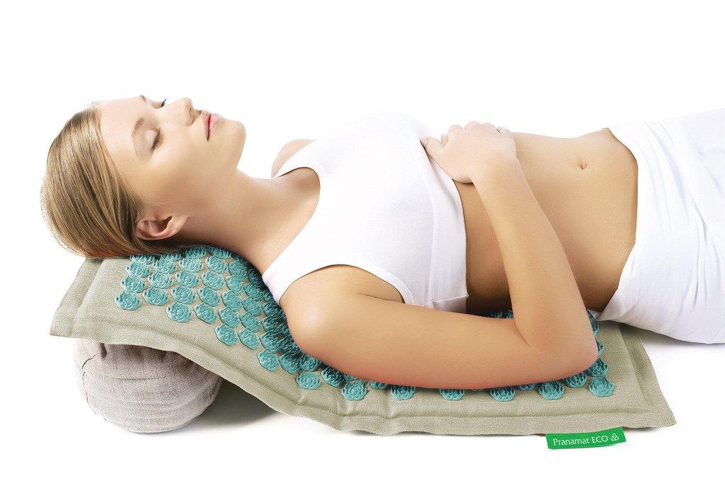 Pranamat ECO Therapeutic Manual Massage Mat (Natural Turquoise) by Pranamat ECO (Image #5)