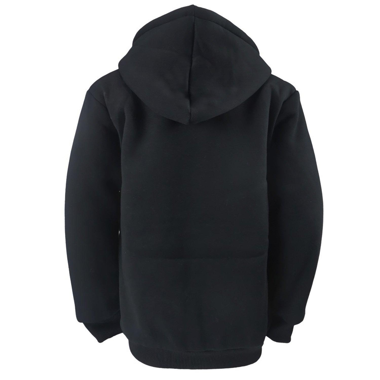 Gary Com Fleece Lined Hoodies for Men 1.8 lbs Full Zip Sherpa Plus Size Sweatshirt Mens Jackets Heavyweight Outwear (4XL, Black) by Gary Com (Image #6)