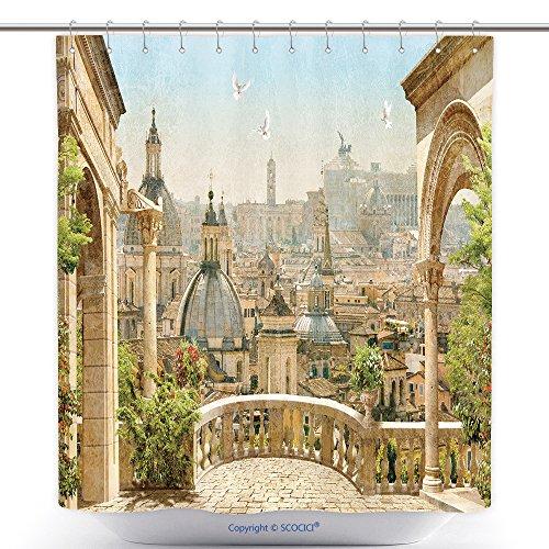 urable Shower Curtains View Through The Old Water Well At The Historic Old West Spanish Mission San Jose, Founded In 1720, San Antonio, Texas 555170194 Polyester Bathroom Shower Curtain Set (Halloween Costumes San Antonio)