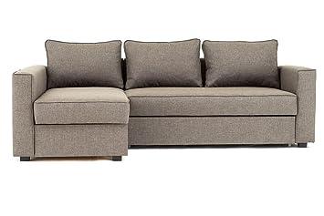 Abakus Direct Boston Corner Sofa Bed Storage In Brown Left Hand
