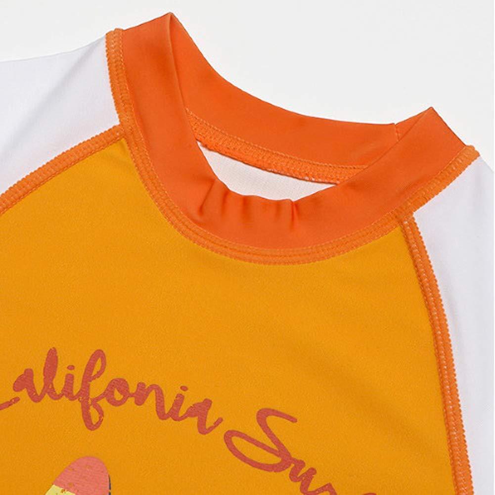 Sailing Printed Swimwear with UPF 50 Baby//Toddler Boys Rash Guard Long Sleeve 2-Piece Swimsuit Set Sun Protection