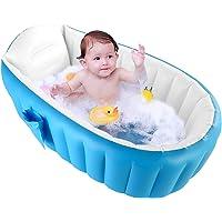 Banheira inflável Rehomy Baby, dobrável portátil, antiderrapante, mini piscina, infantil, grossa, para bebês de 0 a 3…