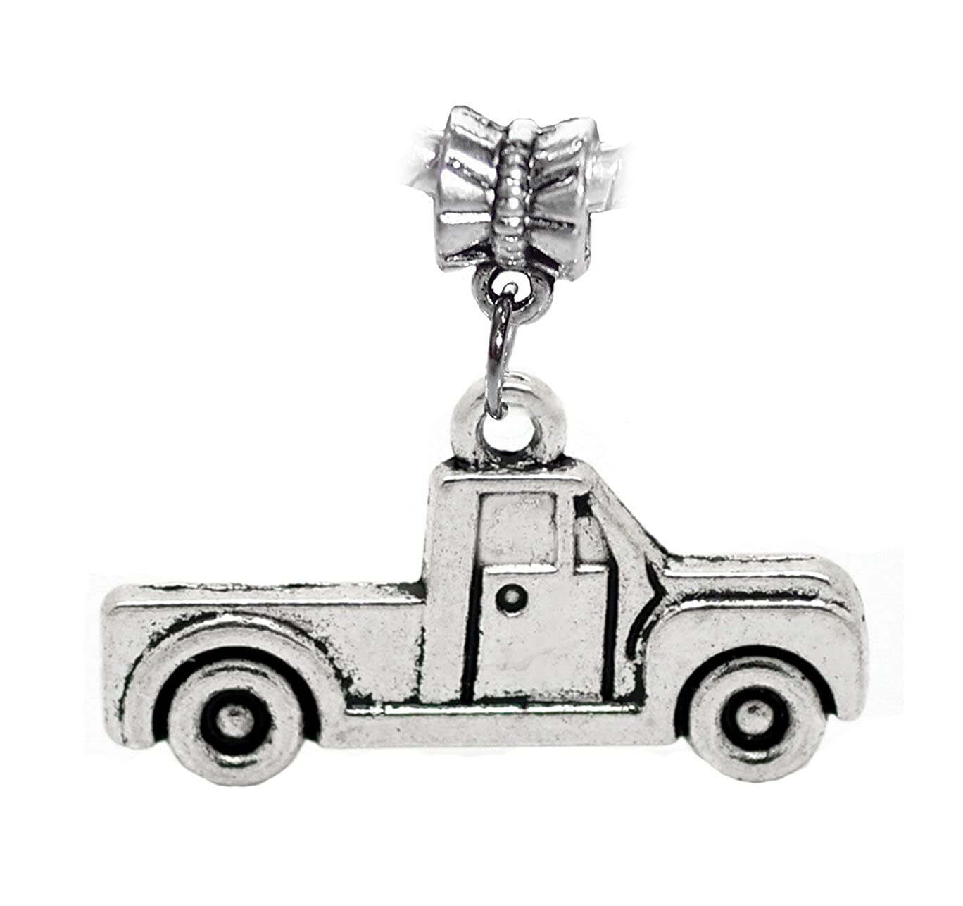 Pickup Truck Car Vehicle Driving Dangle Charm for European Bracelets China 5909C3D22510TR