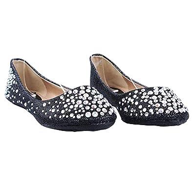 8ead0ae3d JJF Shoes Larisa Champagne Bling Sparkling Rhinestone Glitter Slip Loafer  Ballet Flat Shoes-5