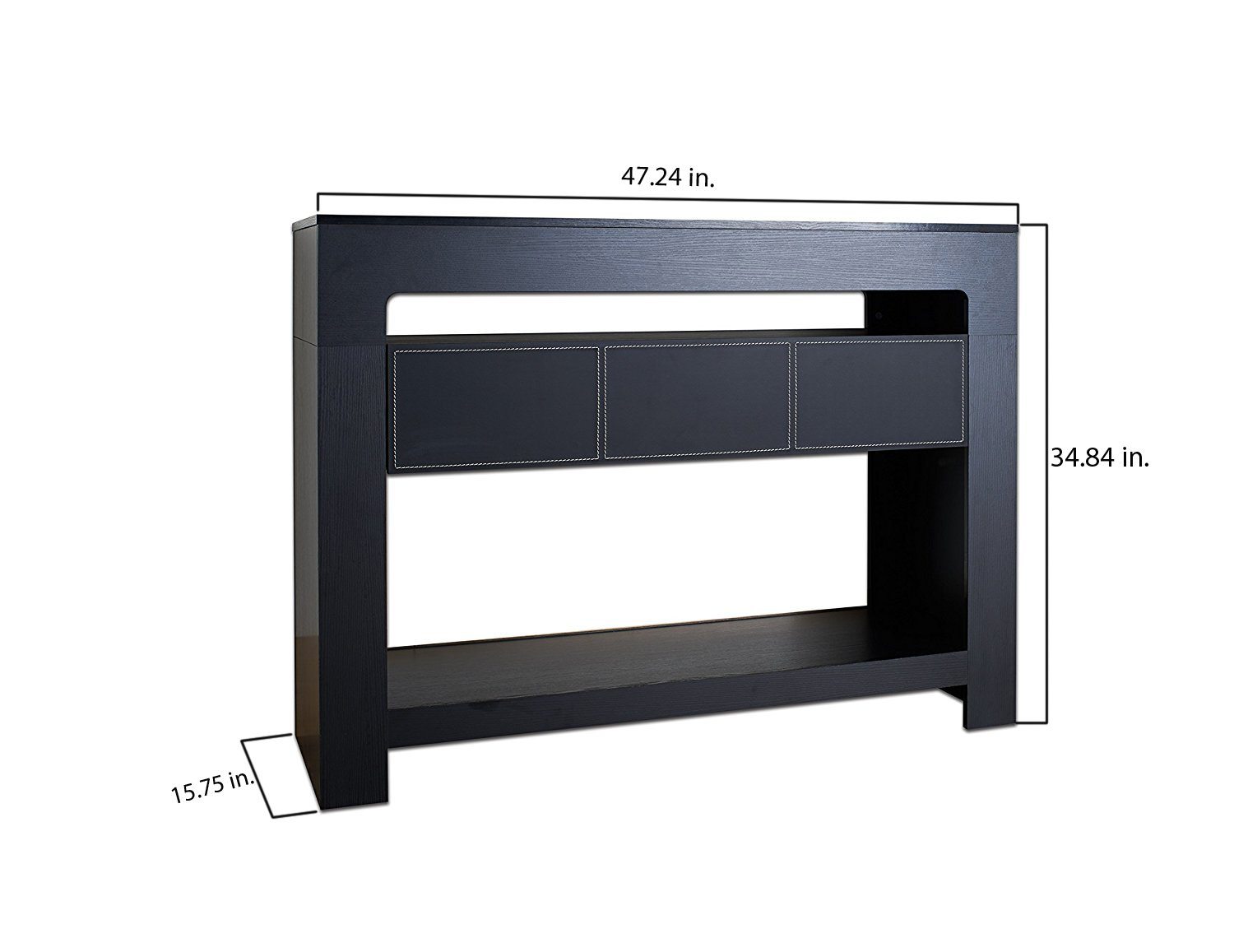ioHOMES Lado Contemporary Console Table, Black by HOMES: Inside + Out (Image #6)