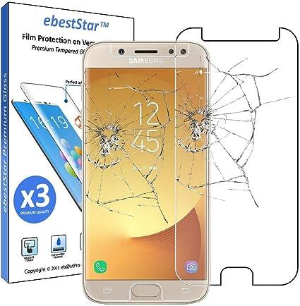 ebestStar - [Lote x3 Cristal Templado Compatible con Samsung J7 ...
