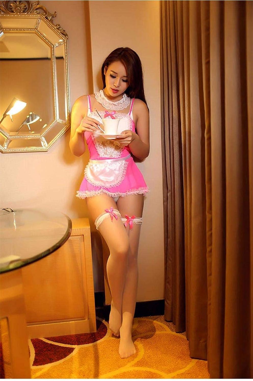 cosplay de criada rosa