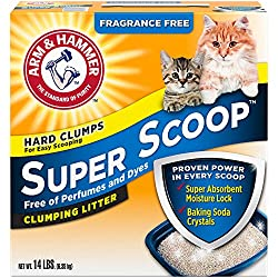 Arm & Hammer Super Scoop Litter, Fragrance Free,14 Lbs (Packaging May Vary)