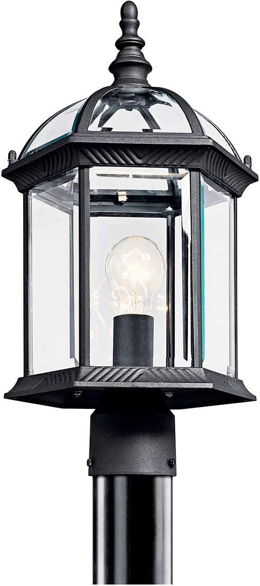 Kichler 49187BKL18 Barrie Outdoor Post, 1-Light LED 10 Watts, Black