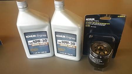 Kit de cambio de aceite de Kohler OEM (2) SAE 10W30 aceite ...