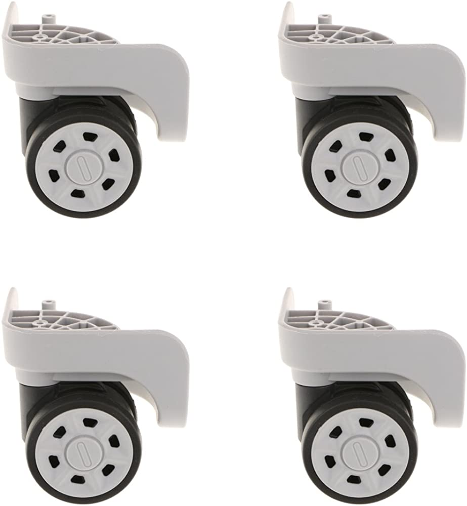 kesoto 4 Piece//Set 360 Rotating Flexible Universal Swivel Wheels Lightweight Caster Wheel Replacement Repair for Luggage Case Suitcase YJ-2011 Grey