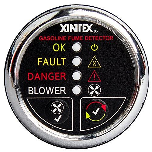 Fireboy-Xintex Xintex Gasoline Fume Detector & Blower Control w/Plastic Sensor - Chrome Bezel Display