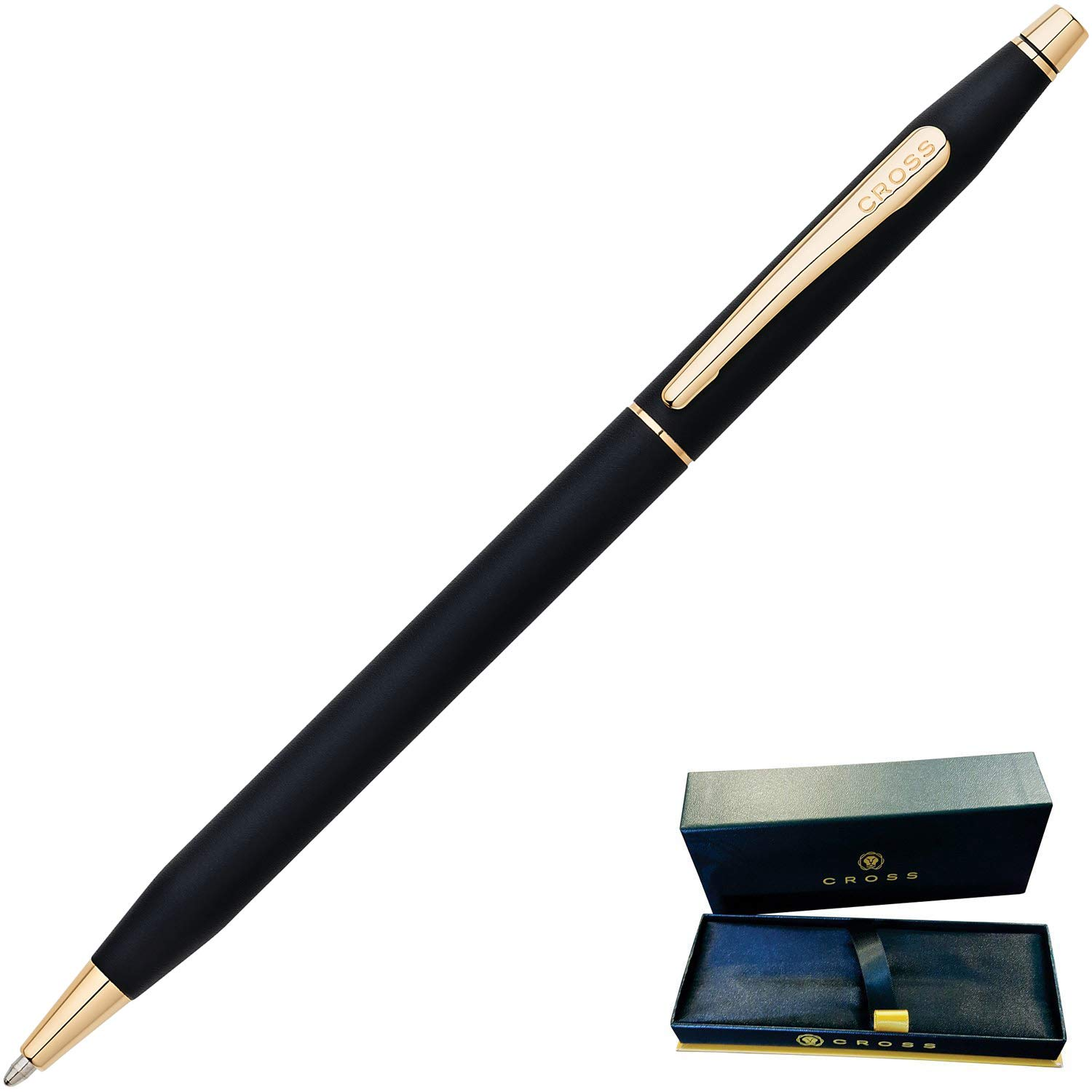 Dayspring Pens | Engraved/Personalized Cross Classic Century Black Ballpoint Pen with Gold Trim 2502. Custom Engraved Fast! by Dayspring Pens (Image #4)