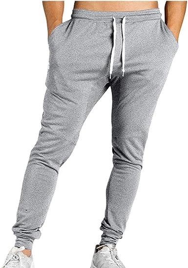Pantalones de Gimnasia para Hombre Pantalón de chándal Deportivo Informal, pantalón a Rayas, pantalón Largo: Amazon.es: Ropa y accesorios