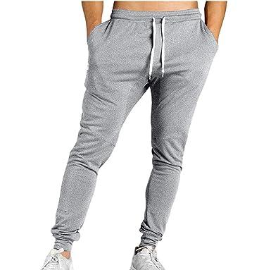 huateng Correas de Rayas de los Hombres de Moda Pantalones ...