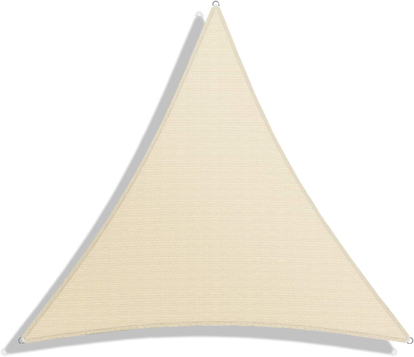 Windscreen4less Sun Shade Sail for Outdoor Patio Backyard UV Block Awning with Steel D-Rings 13ft x 13ft x 13ft Beige Sand Triangle – Custom