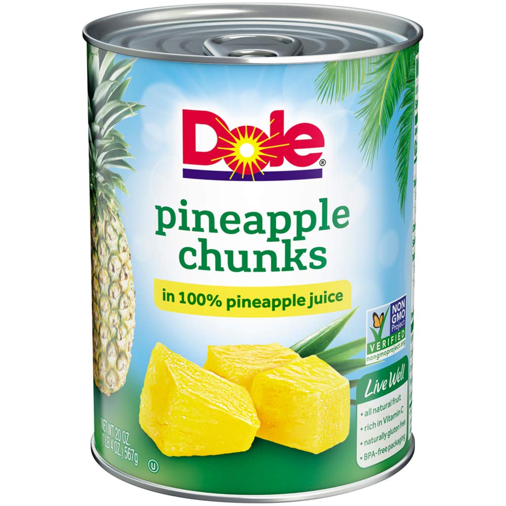 339ae69bb Amazon.com : Dole Pineapple Chunks in Juice, 20 Ounce Cans (Pack of 12) :  Pickles : Grocery & Gourmet Food