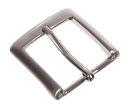 BBBelts Men 1-1//4 Silver Plated Smooth Rectangular Single Prong Belt Buckle